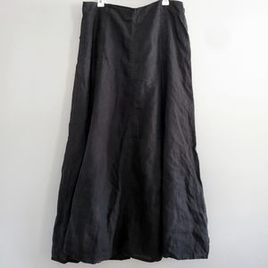 Gap Women's Linen Black Maxi Skirt